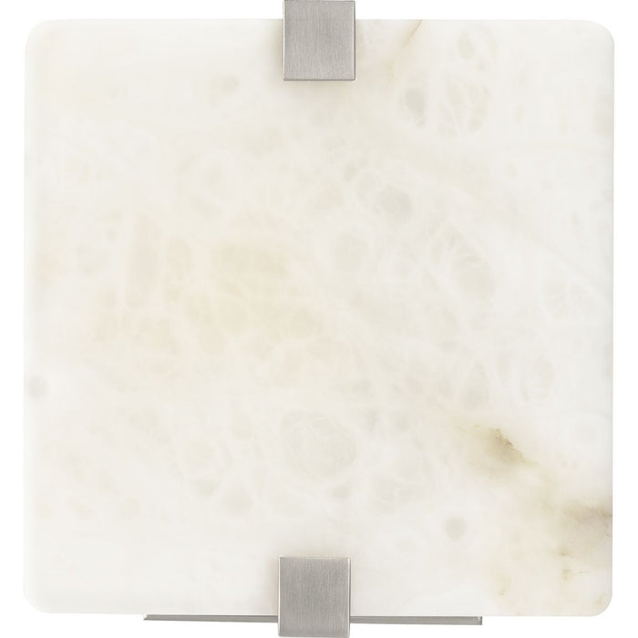 LED Alabaster Stone Brushed Nickel ADA Wall Sconce