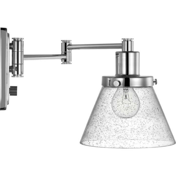 Hinton Collection Brushed Nickel Swing Arm Wall Light