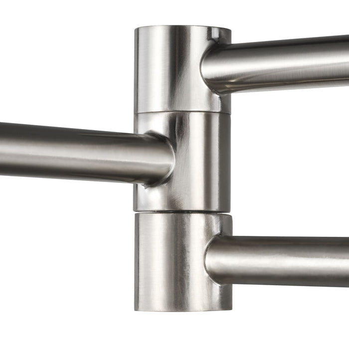Milner Collection Brushed Nickel Swing Arm Wall Light