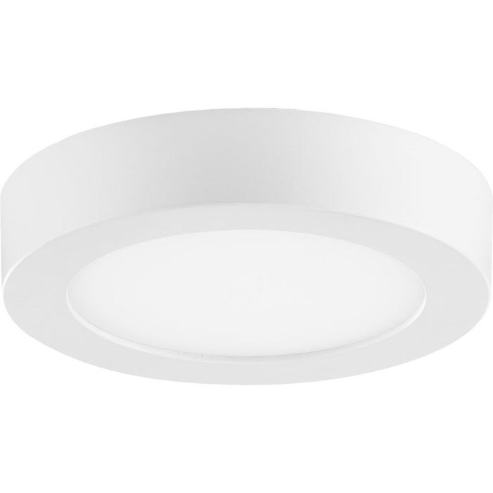 "Everlume Collection White 5"" Edgelit Round Flush Mount"