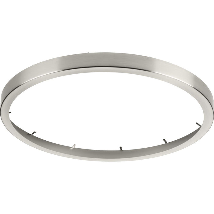 "Everlume Collection Brushed Nickel 18"" Edgelit Round Trim Ring"