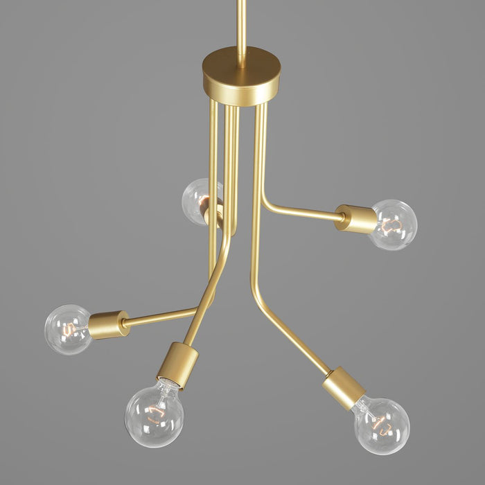 Zag Collection Five-Light Chandelier
