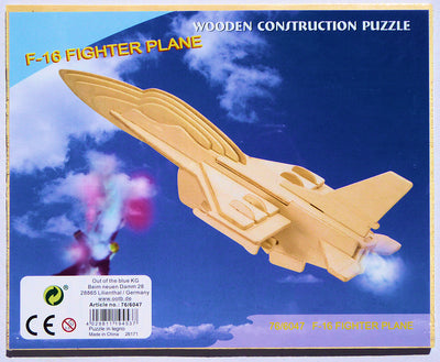 3D F16 airplane puzzle
