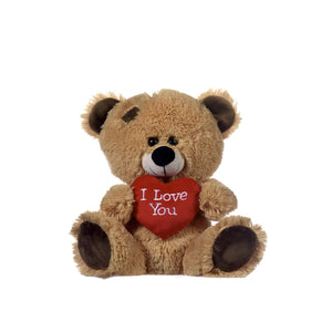 Plush 'I love you' bear