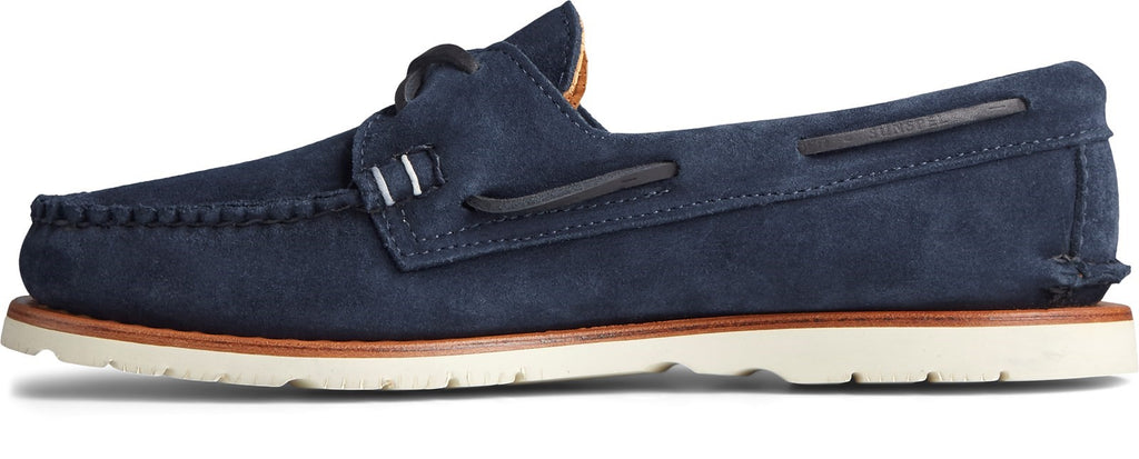 Men's Authentic Original Sunspel Boat Shoe Navy Suede