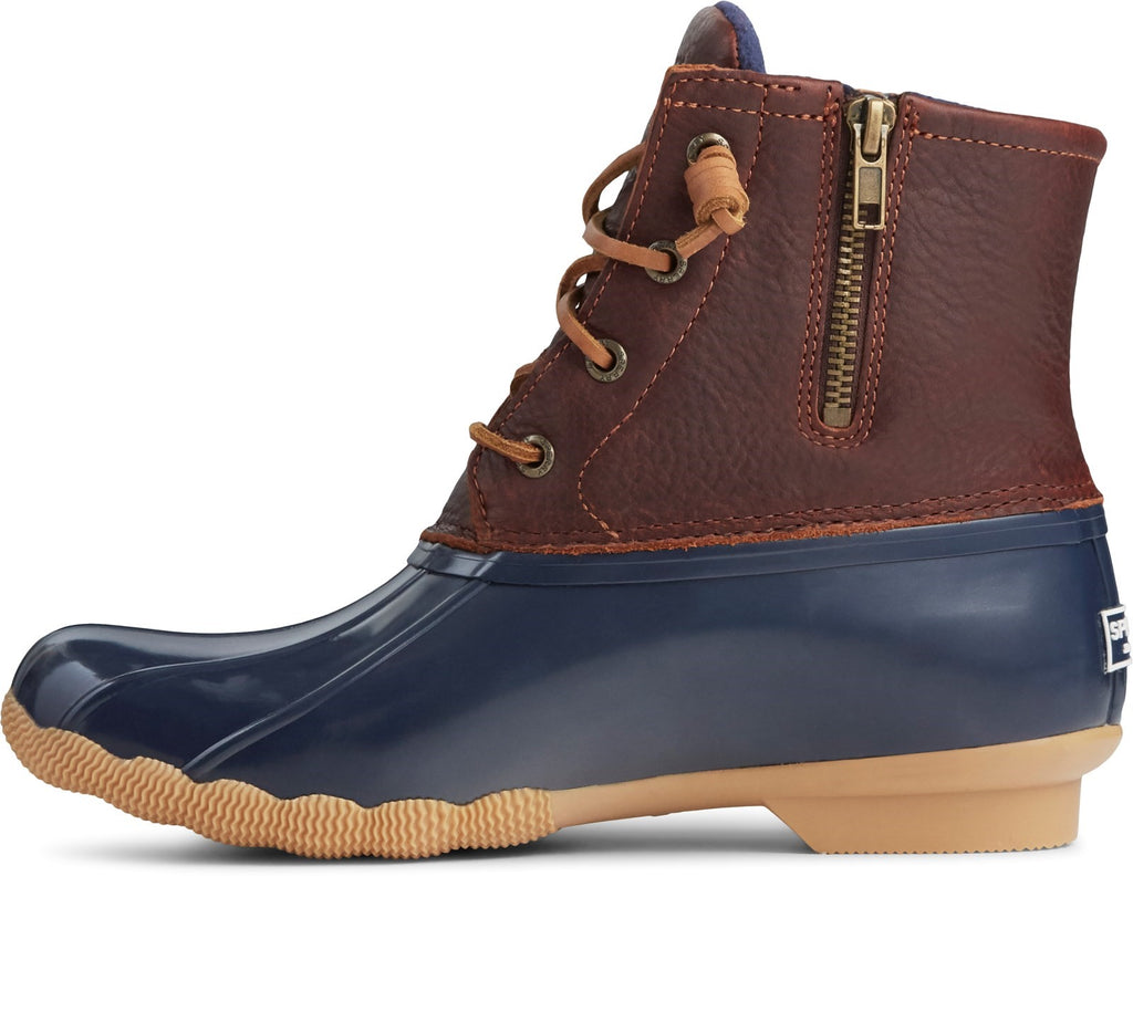 Women's Saltwater Duck Weather Boot Tan/Navy
