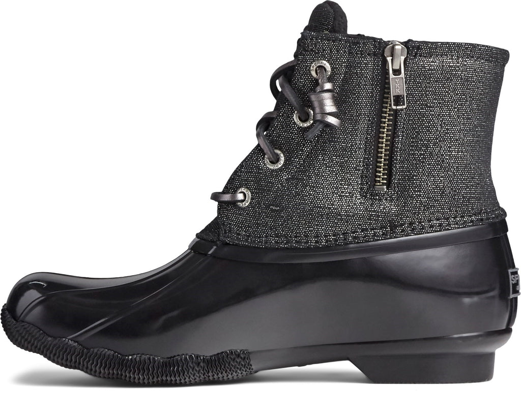 Women's Saltwater Sparkle Duck Weather Boot Black/Silver