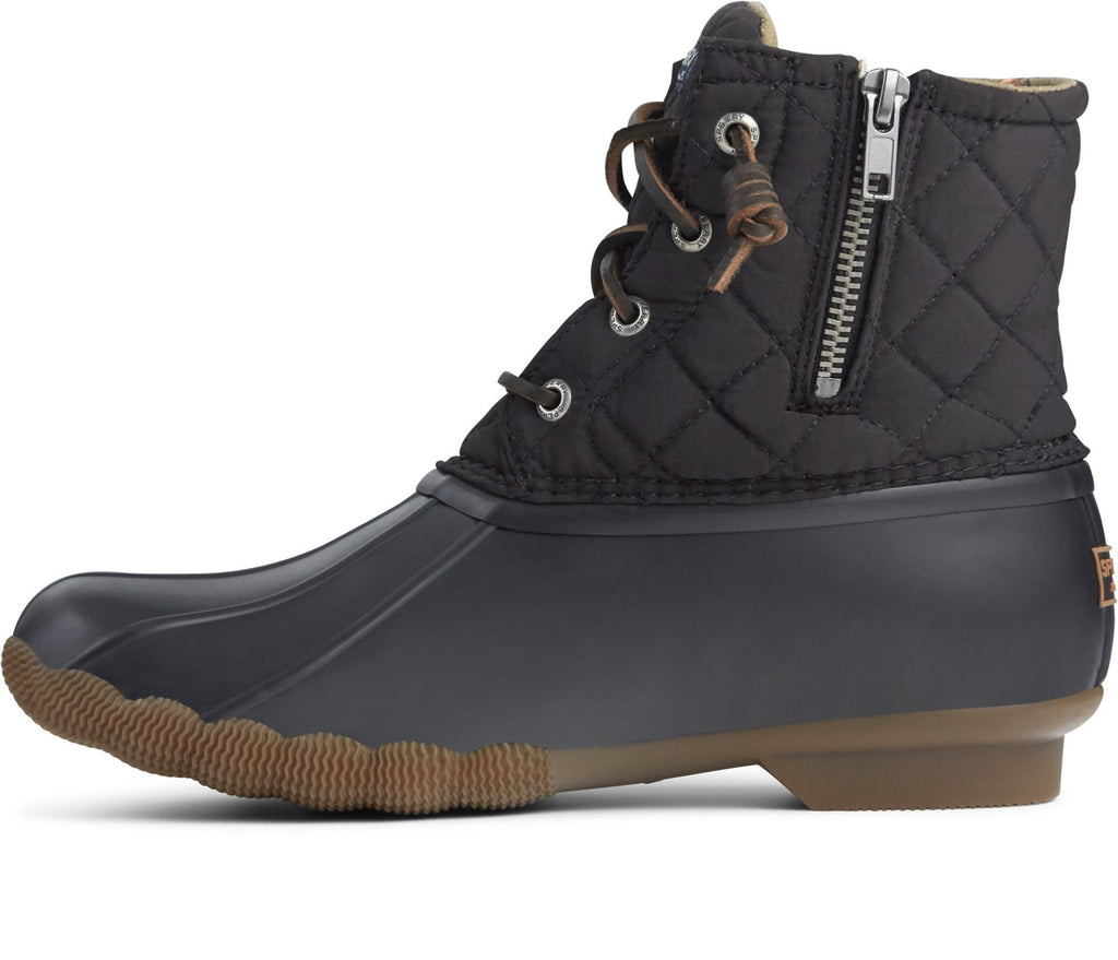 Women's Saltwater Quilted Duck Weather Boot Black