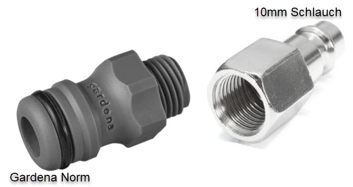 Gardena Adapter zu 10mm Schlauch, Kit