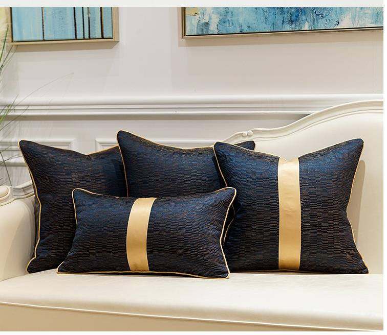 Luxury Blue and Gold Cushion Covers - Decked Deco