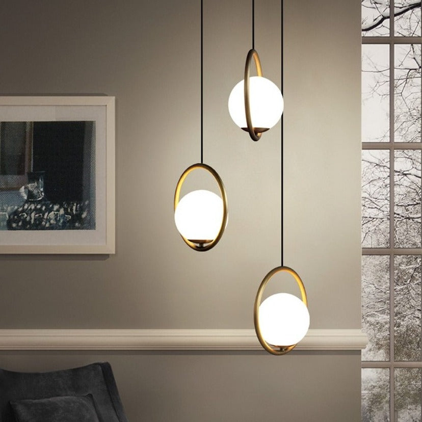 Nordic Glass Ball Pendant Lights - Decked Deco