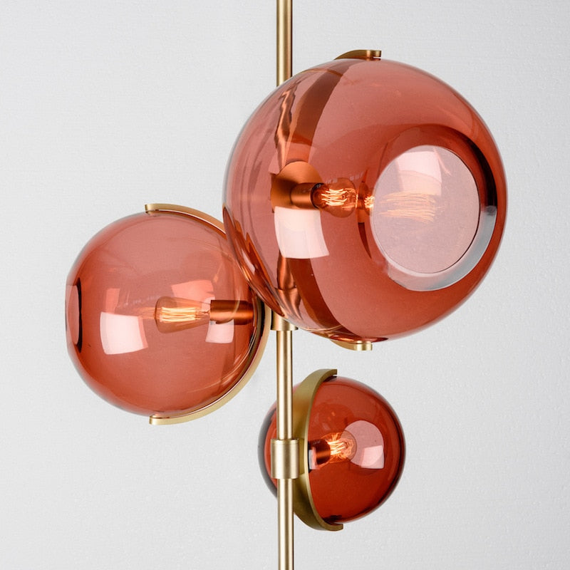Blush Red Chic Glass Pendant Light - Decked Deco