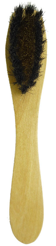 NYLON / WIRE COMBO SUEDE BRUSH WITH WOOD HANDLE