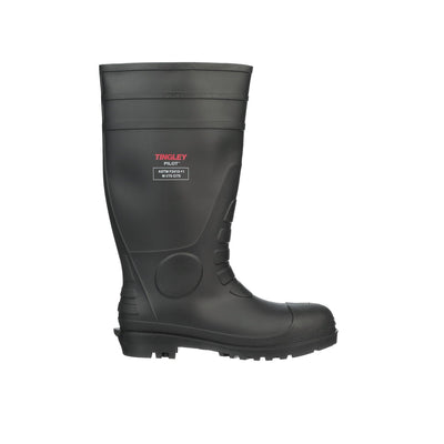 TINGLEY STEEL TOE BLACK KNEE BOOT