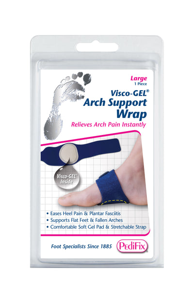 PEDIFIX VISCO-GEL ARCH SUPPORT WRAP LARGE