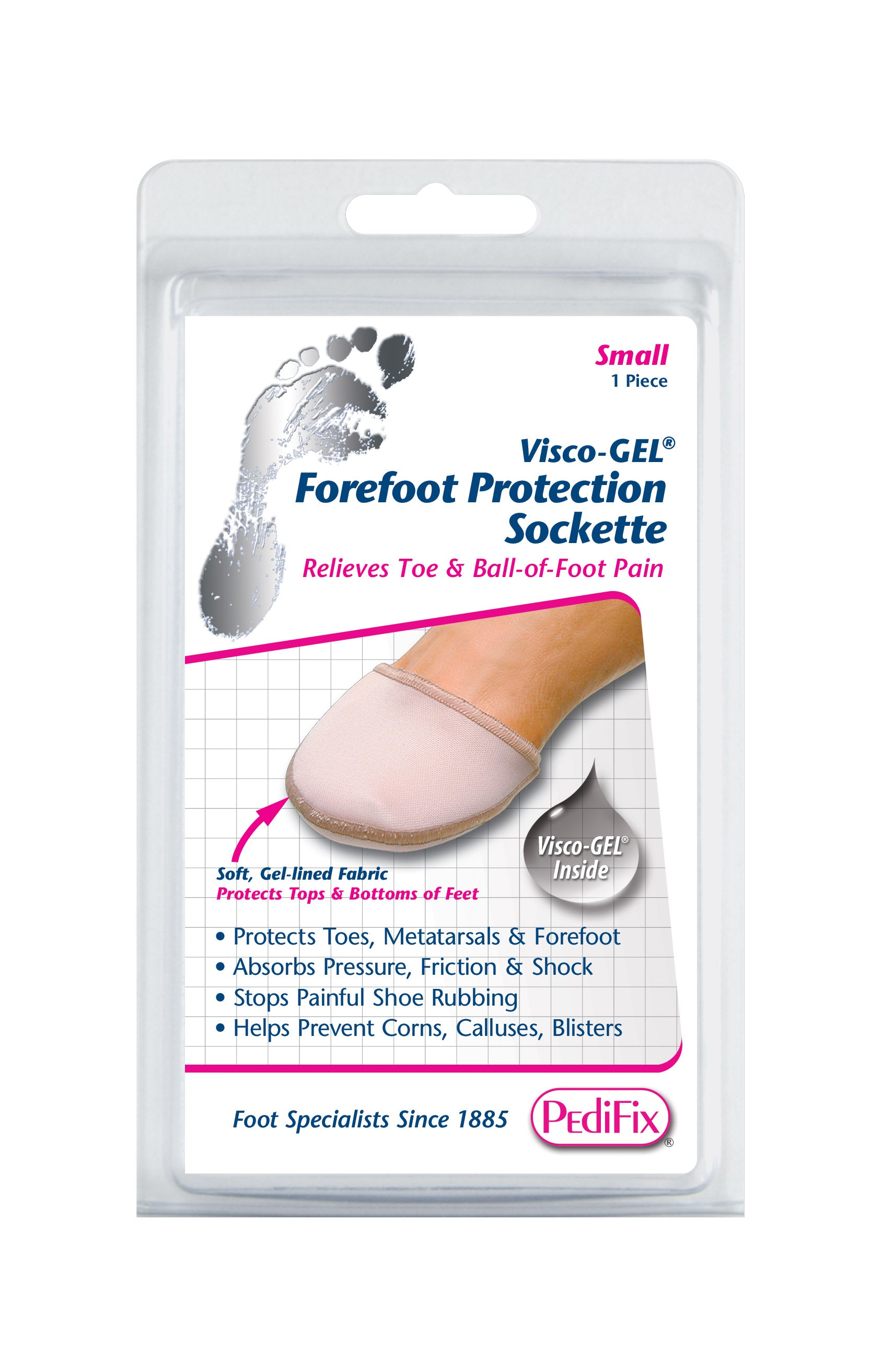 PEDIFIX FOREFOOT PROTECTION SOCKETTE LARGE