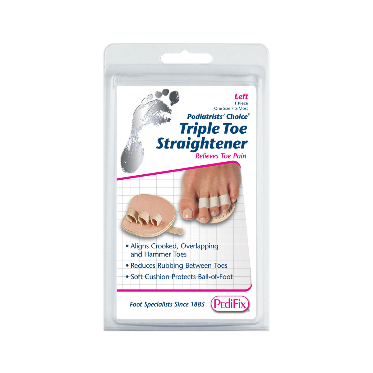 PEDIFIX TRIPLE TOE STRAIGHTENER LEFT FOOT