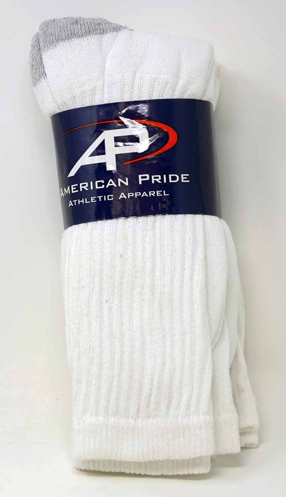 SOCK TUBE BOOT LENGTH WHITE 3 PAIR PER PACK