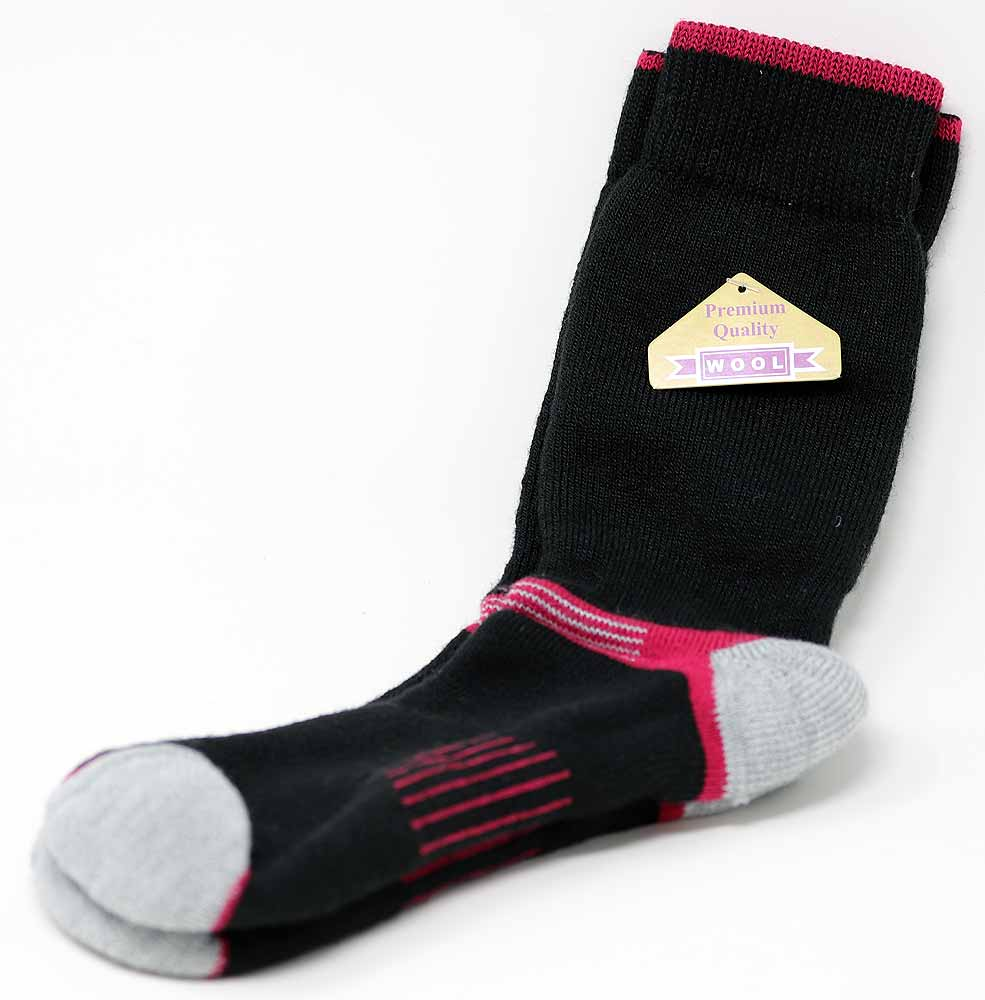 SOCK WOMENS CASUAL (9-11) WOOL BLEND ASST COLORS