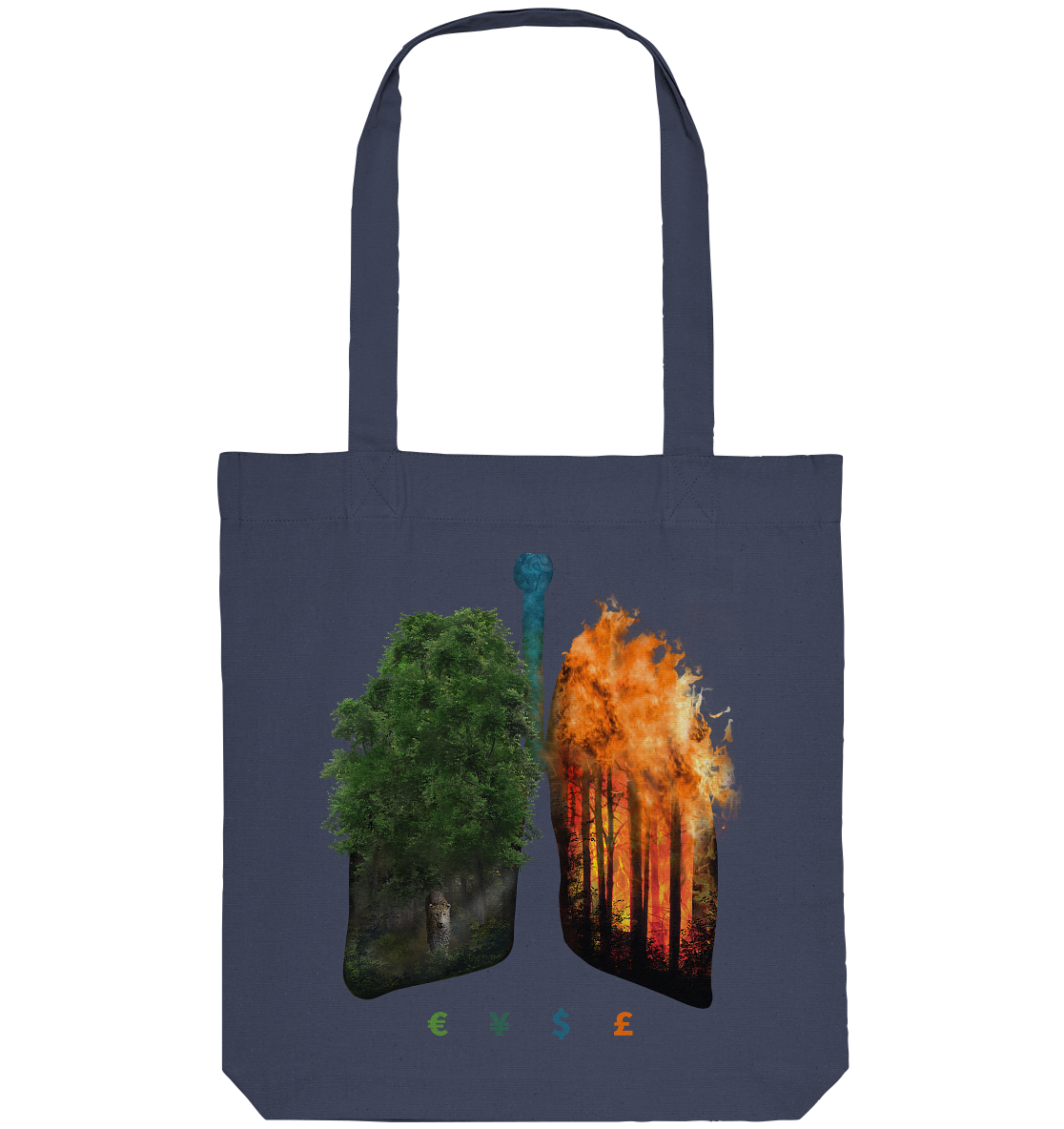 100% Recycled Bag - Burning Lungs