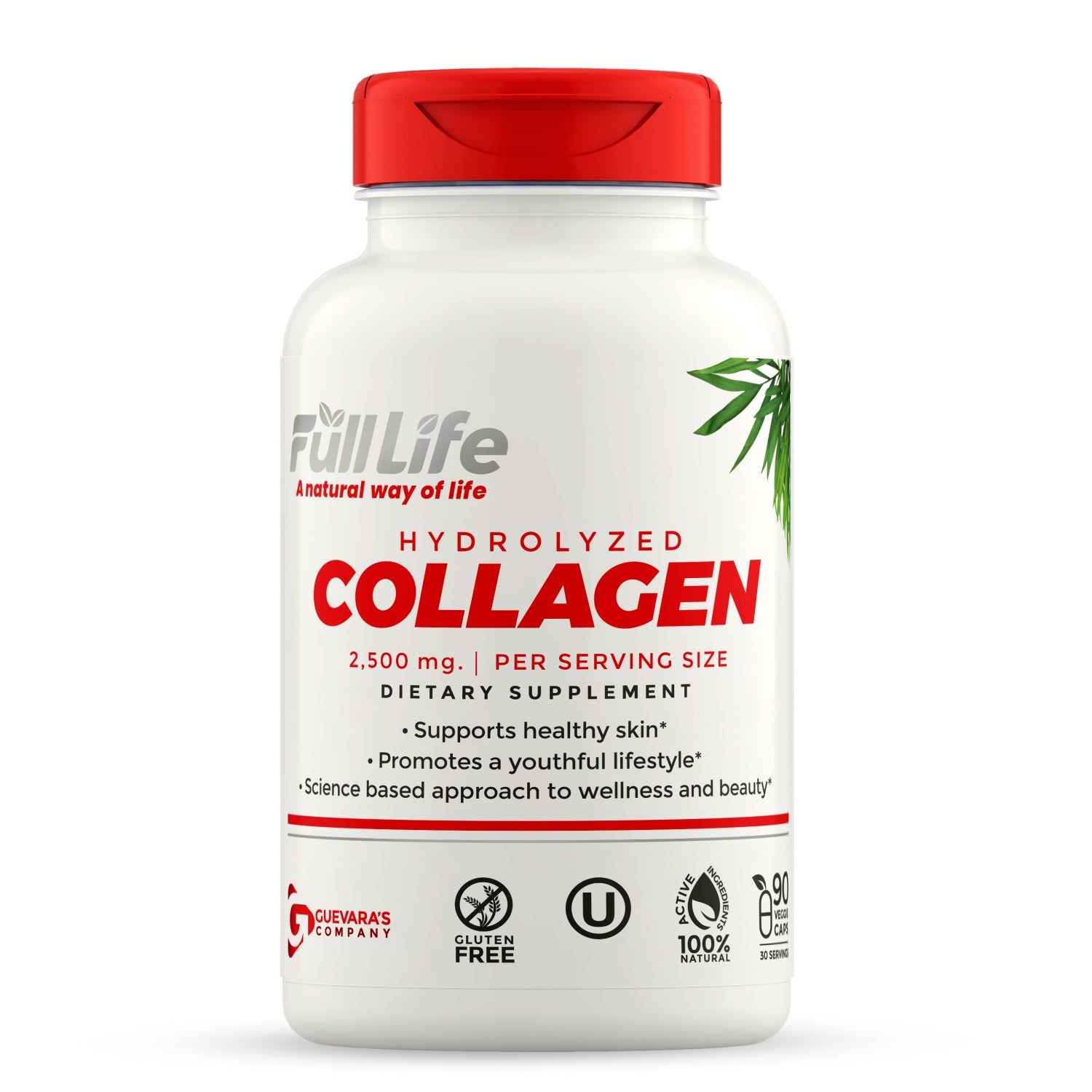 Hydrolyzed Collagen 90 Veggie Capsules