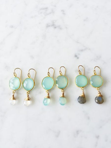 Victoria Ojai Earrings Chalcedony