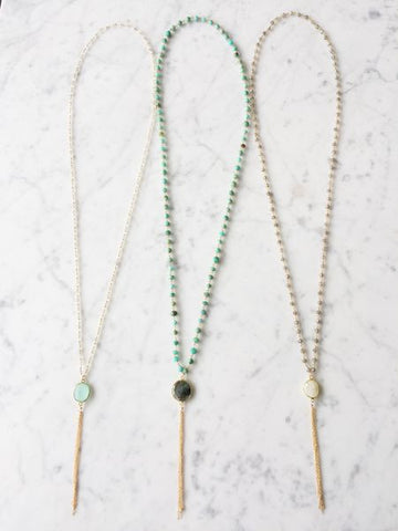 Fiesta Tassel Long Necklace