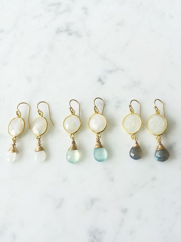 Victoria Ojai Earrings Moonstone
