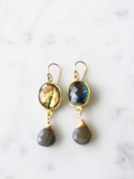Victoria Ojai Earrings Labradorite