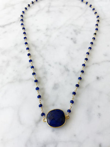 Mrs. Parker Endless Summer Necklace Sapphire