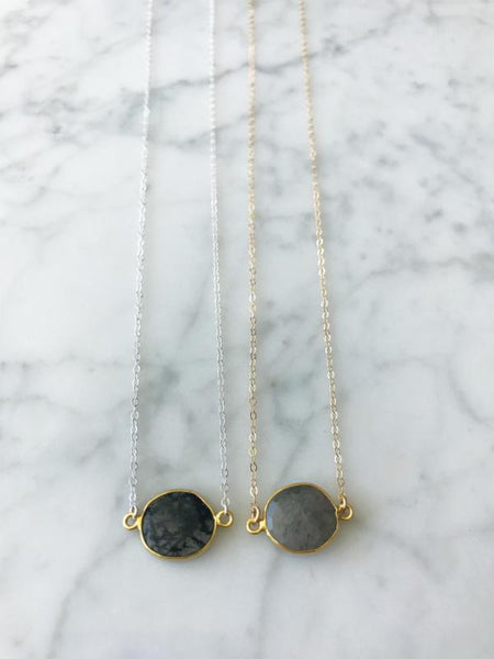 Mrs. Parker Necklace in Black Rutilated Quartz