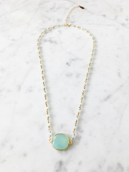 Copy of Mrs. Parker Endless Summer Necklace Chalcedony