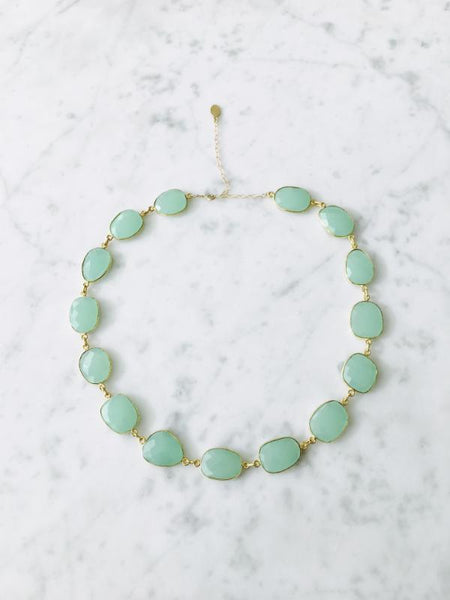 Del Mar Necklace Blue Chalcedony