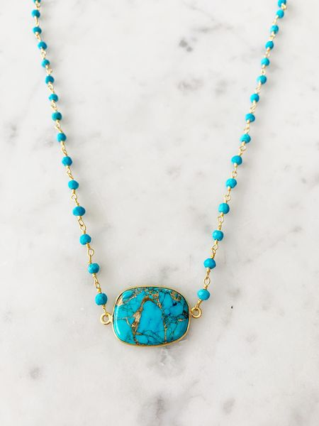 Mrs. Parker Endless Summer Necklace Copper Turquoise