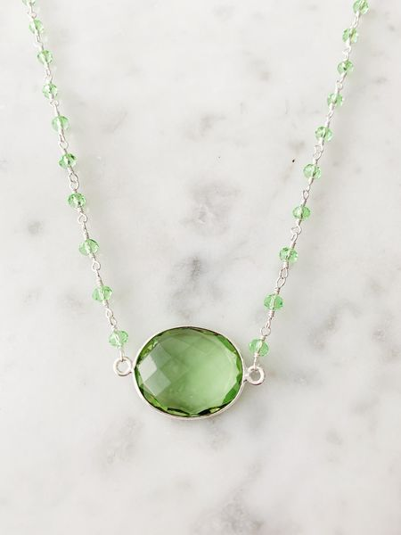 SALE Mrs. Parker Endless Summer Necklace Silver Green Amethyst