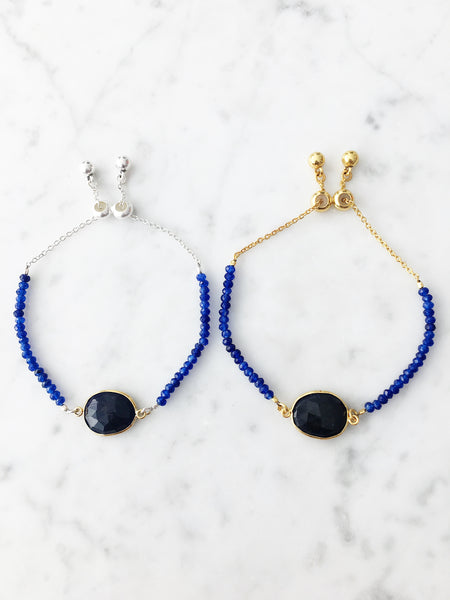 Copy of Kendra Adjustable Beaded Bracelet Sapphire