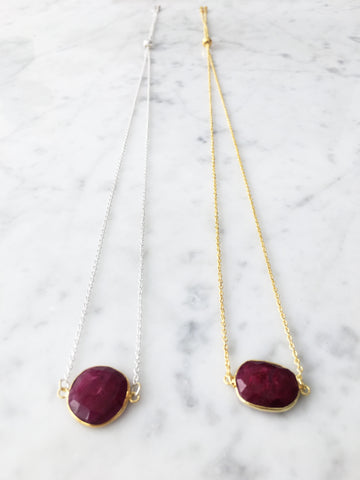 SALE Kendra Adjustable Necklace Ruby