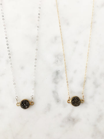 Mrs. Parker Bronze Druzy Necklace