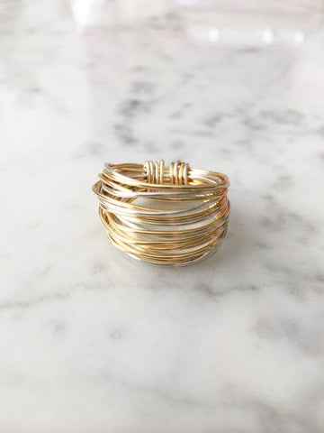 Marcia Multi color Wire Wrap Ring
