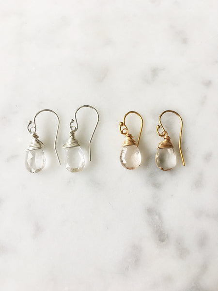 Jill Short Drop Earring in Imperial Topaz