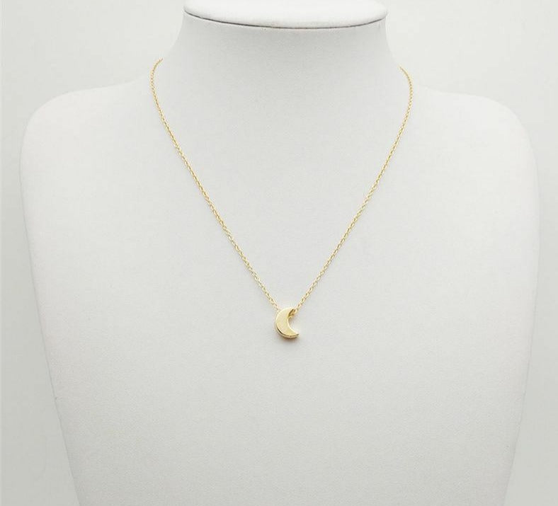 FINAL SALE Gold Moon Drop Necklace Adjustable