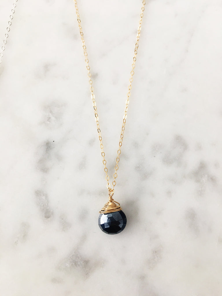 Jill Black Spinel Necklace