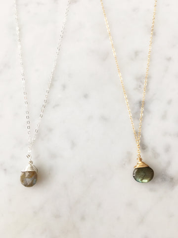 Jill Labradorite Necklace