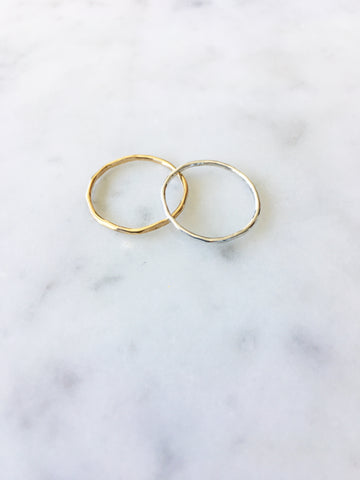 The Hammered Knuckle Ring