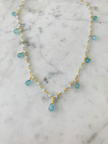 Chalcedony Drop Balmy Nights Necklace