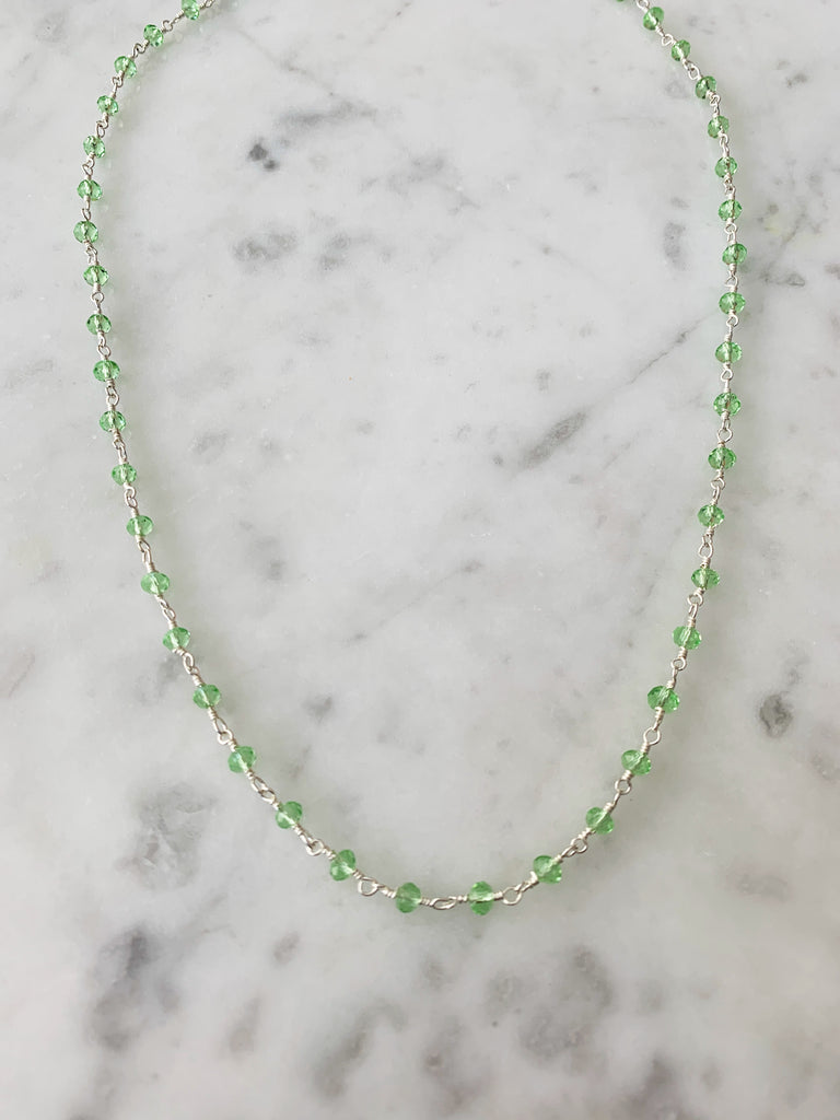 SALE Balmy Nights Necklace Green Amethyst