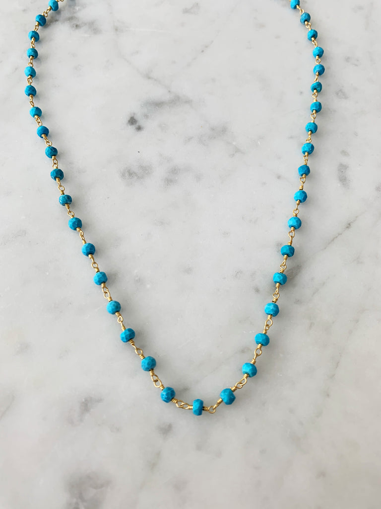 Balmy Nights Necklace Turquoise