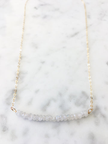 Michelle Bead Bar Moonstone Necklace