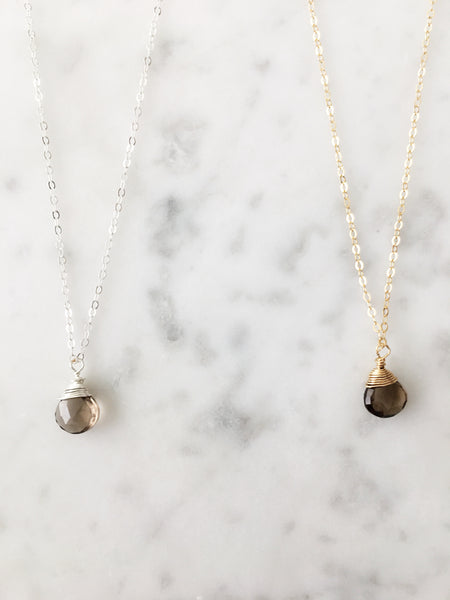 Jill Smoky Quartz Necklace
