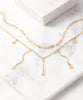 FINAL SALE Gold Celestial Double-Layer Chain Necklace